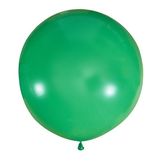 Зелёный метровый шар латексный с гелием
