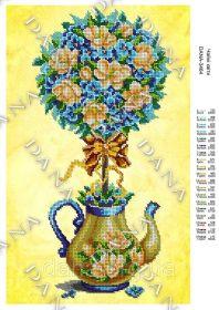 Dana DANA-3464 Чайные Цветы схема для вышивки бисером купить в магазине Золотая Игла