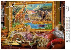 Dana DANA-3472 Африка схема для вышивки бисером купить в магазине Золотая Игла