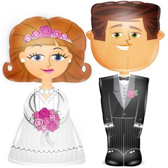 Жених, невеста - ходячие шары