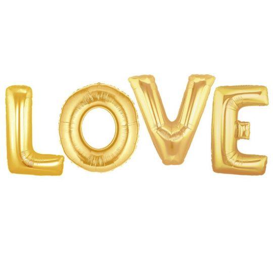 Набор метровых букв LOVE с воздухом
