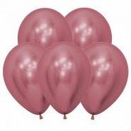 Рефлекс Розовый, (Зеркальные шары), 12 шт