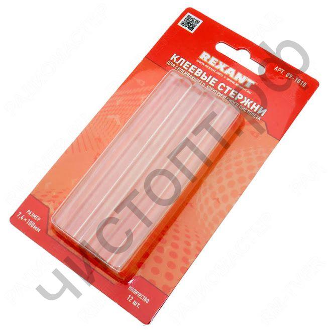 Термоклей клеевые стержни REXANT, d=7 мм, 100 мм, прозрачные, 12 шт., блистер