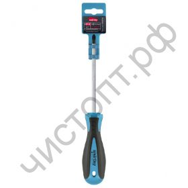 Отвертка крестовая PH1x100, эргономичная 2х-компонентная рукоятка, CR-V, магнит, Smartbuy Tools