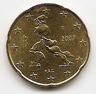 20 евроцентов Италия 2007 регулярная из обращения