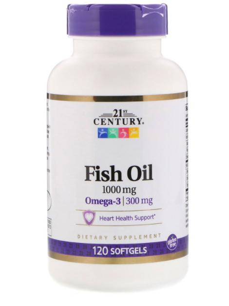 21st Century Fish Oil 1000 мг 120  капс