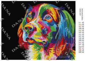Dana DANA-3447 Радужная Собака схема для вышивки бисером купить в магазине Золотая Игла