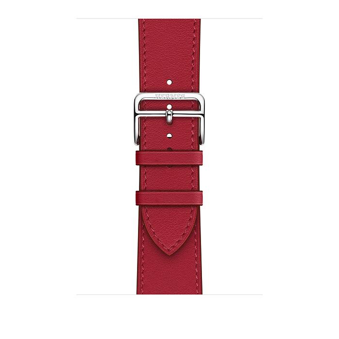 Ремешок Apple Watch Hermès Rouge Piment Swift Leather Single Tour из кожи (для корпуса 44 мм)