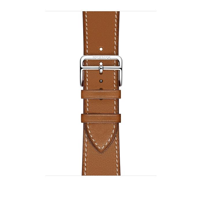 Ремешок Apple Watch Hermès Fauve Barénia Leather Attelage Single Tour из кожи (для корпуса 44 мм)