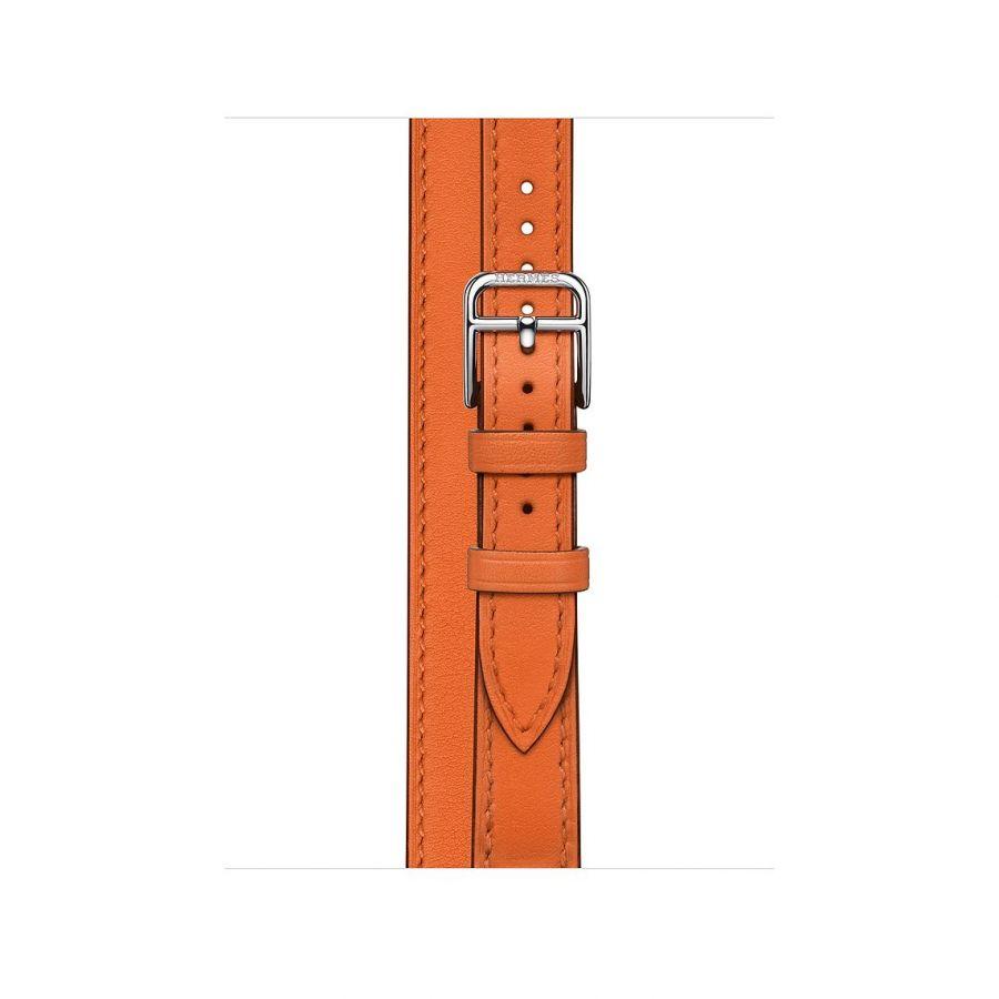 Ремешок Apple Watch Hermès Orange Swift Leather Attelage Double Tour из кожи (для корпуса 40 мм)