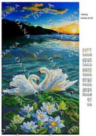 Dana DANA-3419 Лебеди схема для вышивки бисером купить в магазине Золотая Игла