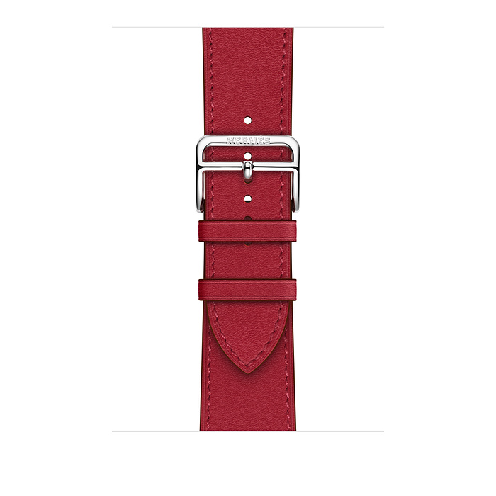 Ремешок Apple Watch Hermès Rouge Piment Swift Leather Single Tour из кожи (для корпуса 40 мм)