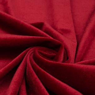 Бархат стрейч - Насыщенный красный 50х40
