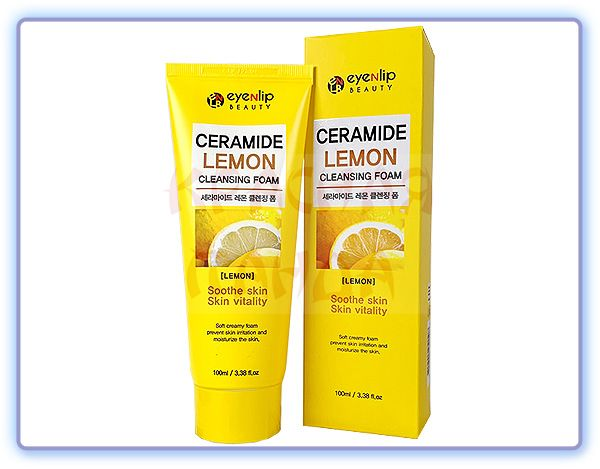 Пенка для умывания Eyenlip Ceramide Lemon Cleansing Foam