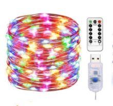USB гирлянда светодиодная с пультом 10 метров
