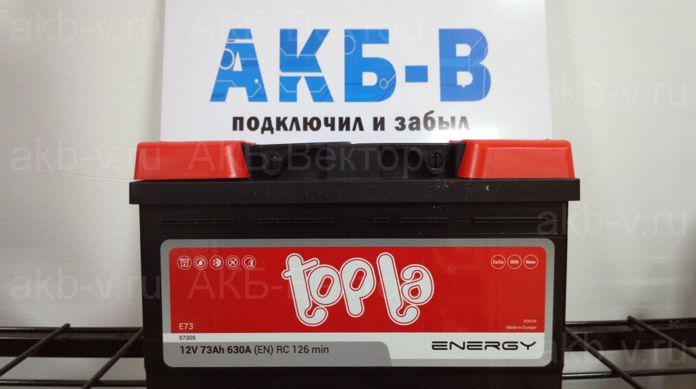 Topla Energy 73Ач 630А(EN) низкий (108073)
