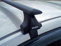 Багажник на крышу Skoda Superb B8, Атлант, крыловидные аэродуги (черный цвет)