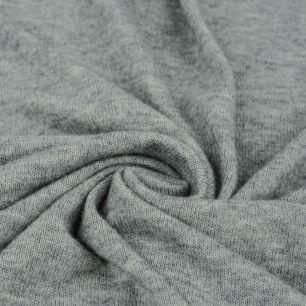 Трикотаж вязаный -  Серый меланж 50х37
