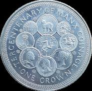 Остров МЭН 1 крона (25 пенсов) 1979 года, 300-летие чеканки монет острова МЭН
