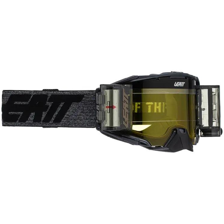 Leatt Velocity 6.5 Roll-Off Graphene Yellow 70%, очки для мотокросса и эндуро с системой грязеочистки