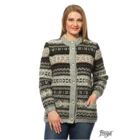 Кардиган женский на пуговицах вязаный из Исландской шерсти 05271-43
