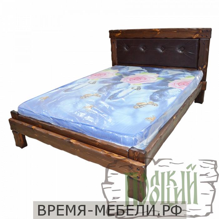 """Кровать """"Купец 2"""" с мягкой спинкой"""
