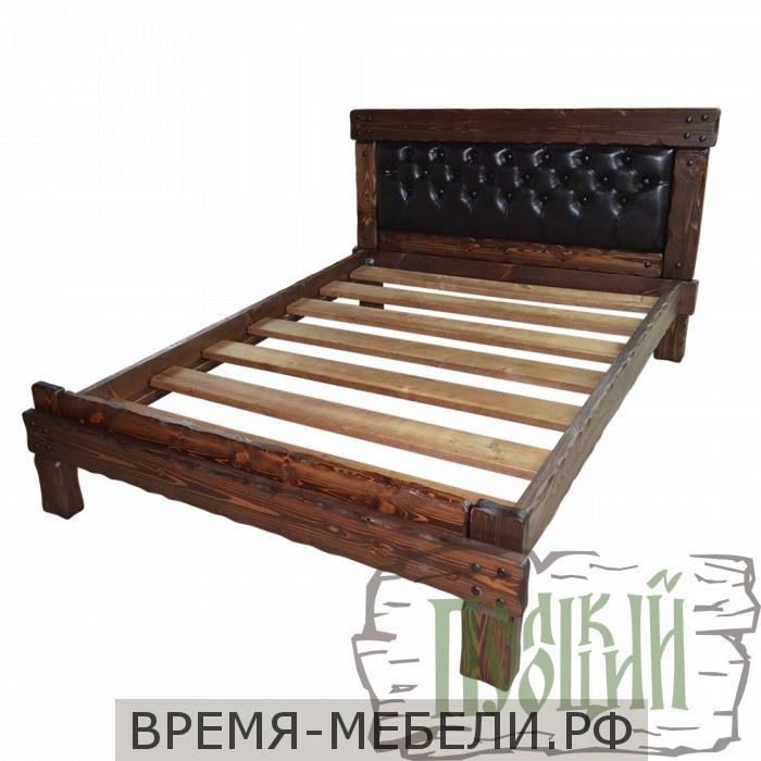 """Кровать """"Купец 3"""" с мягкой спинкой (каретная стяжка)"""