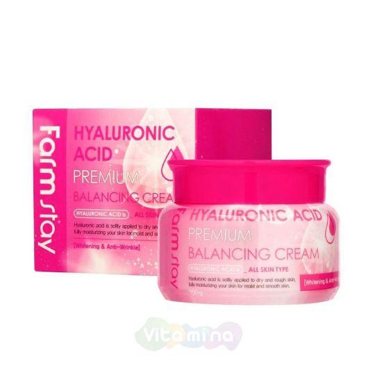 FarmStay Балансирующий крем с гиалуроновой кислотой Hyaluronic Acid Premium Balancing Cream