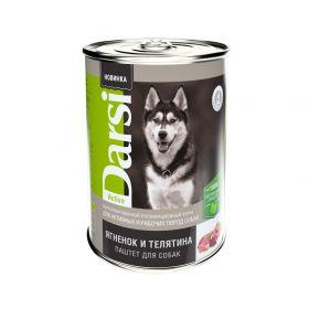 """Darsi Консервы """"Ягненок и телятина"""" для активных и рабочих собак, паштет, 410г"""