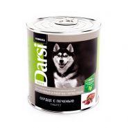 """Darsi Консервы """"Сердце с печенью"""" для активных и рабочих собак , паштет, 850г"""