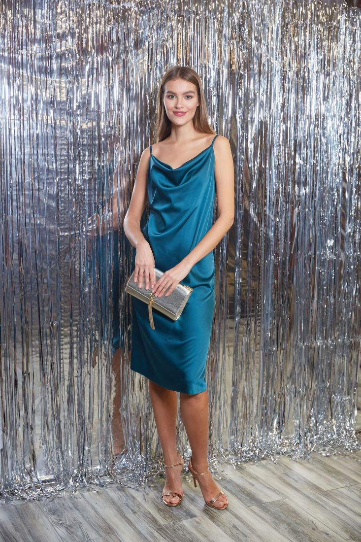 s3266 Платье-комбинация из шёлка emerald