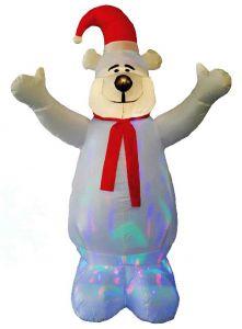 Белый медведь с дискошаром (1,8 м)