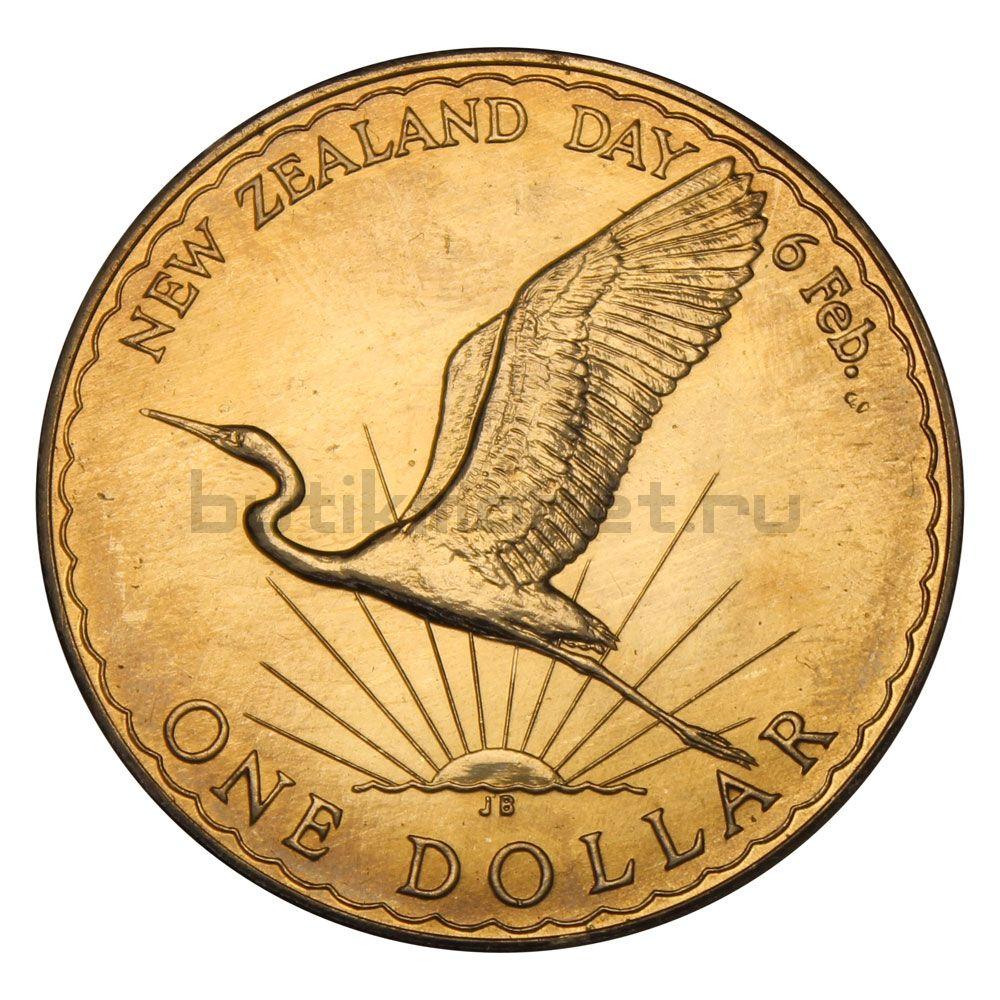 1 доллар 1974 Новая Зеландия День Вайтанги