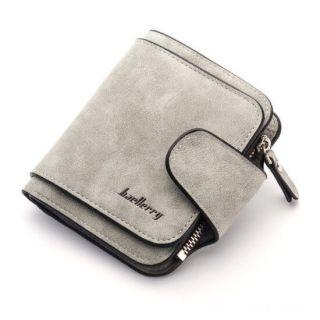 Женский замшевый кошелёк Baellerry Forever Mini, Светло-серый