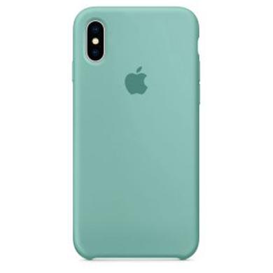Cиликоновый чехол Apple для iPhone X/10 (голубой)