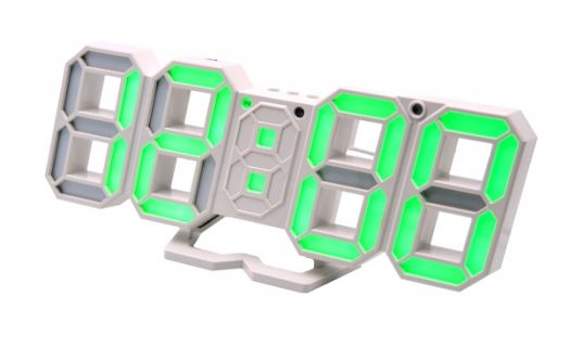Часы эл. VST883-4 зел.цифры (5В)