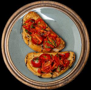 Брускета с томатами черри и базиликом 170г