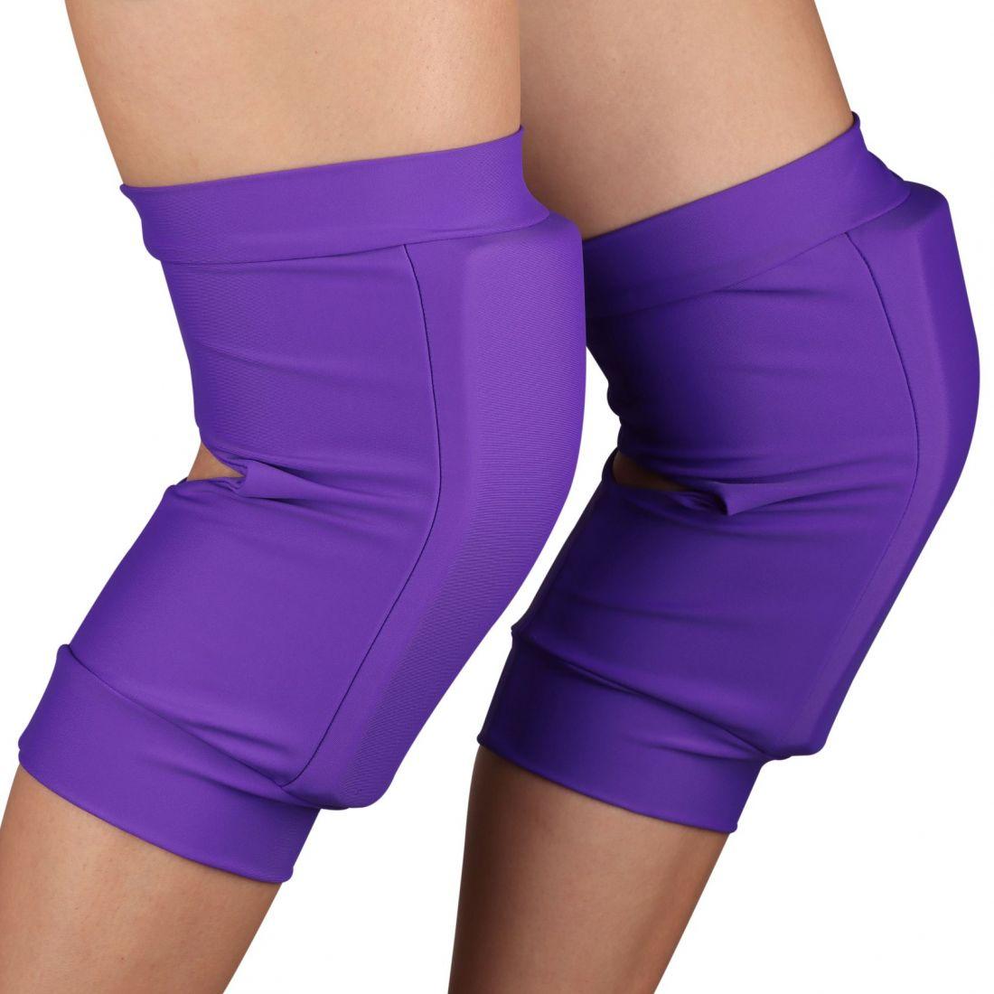 Наколенники для танцев и гимнастики INDIGO NORA SM-377 бифлекс фиолетовые