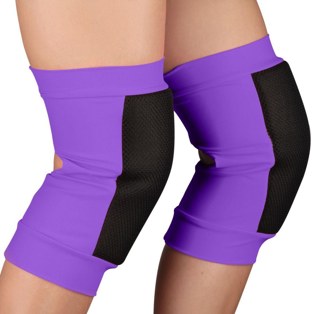Наколенники для танцев и гимнастики INDIGO SANDRA SM-378 сетка фиолетовые