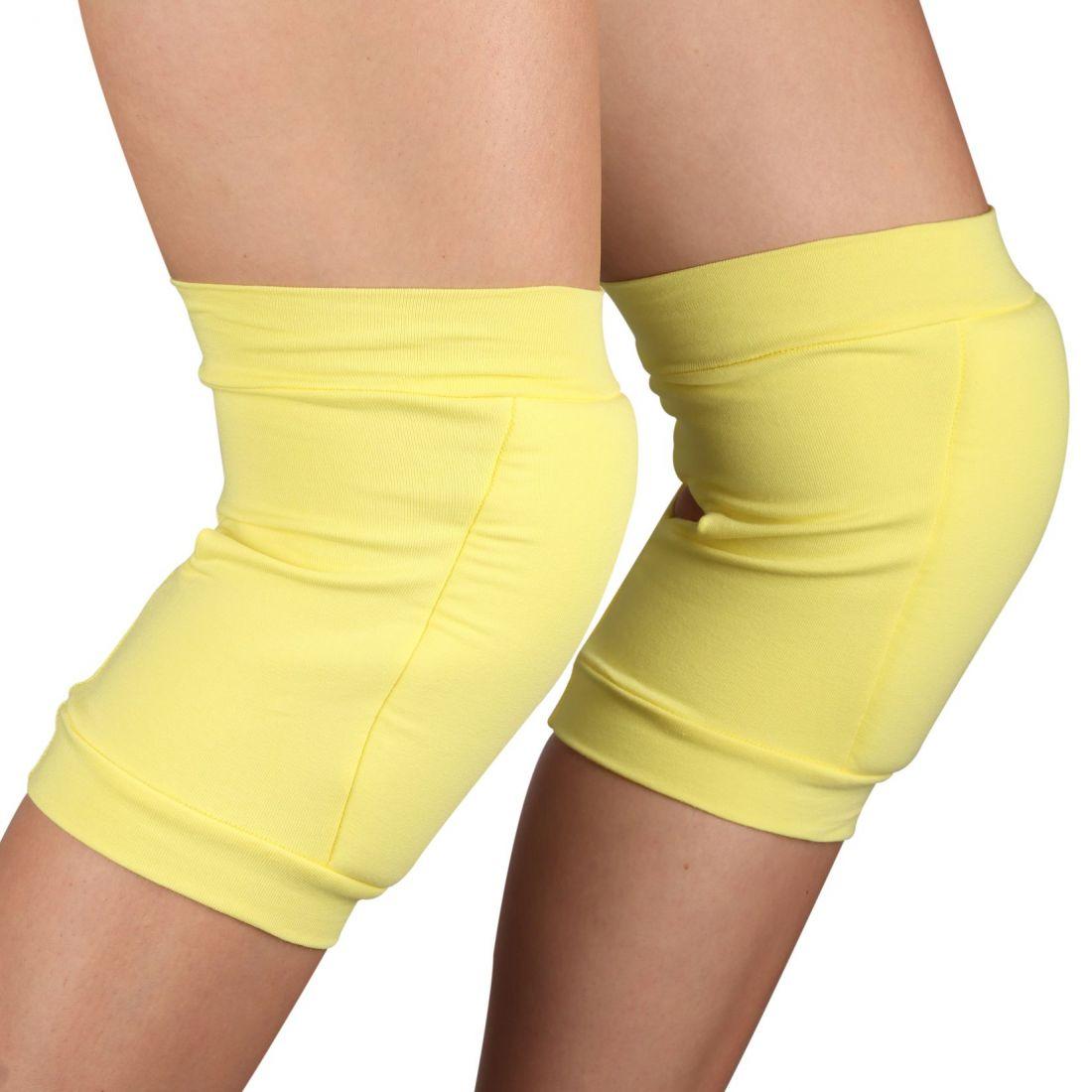 Наколенники для гимнастики и танцев INDIGO SM-113 хлопок желтые