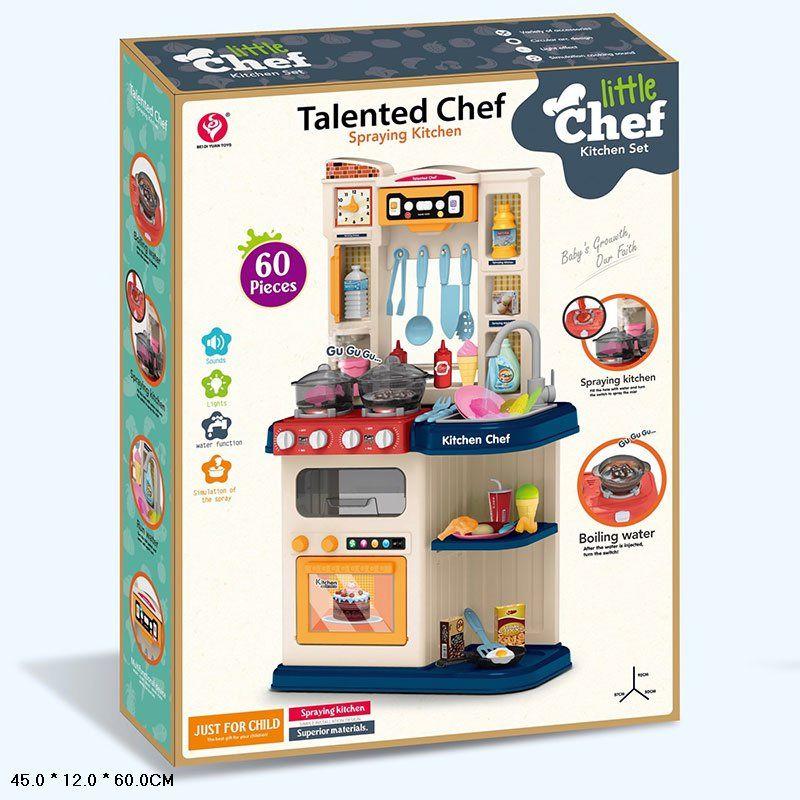 922-115/116 Детская кухня с паром и настоящей водой Kitchen Chef 78,5 см.