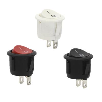 Круглая кнопка вкл-выкл 10A, 20мм, 2 контакта (3 цвета)