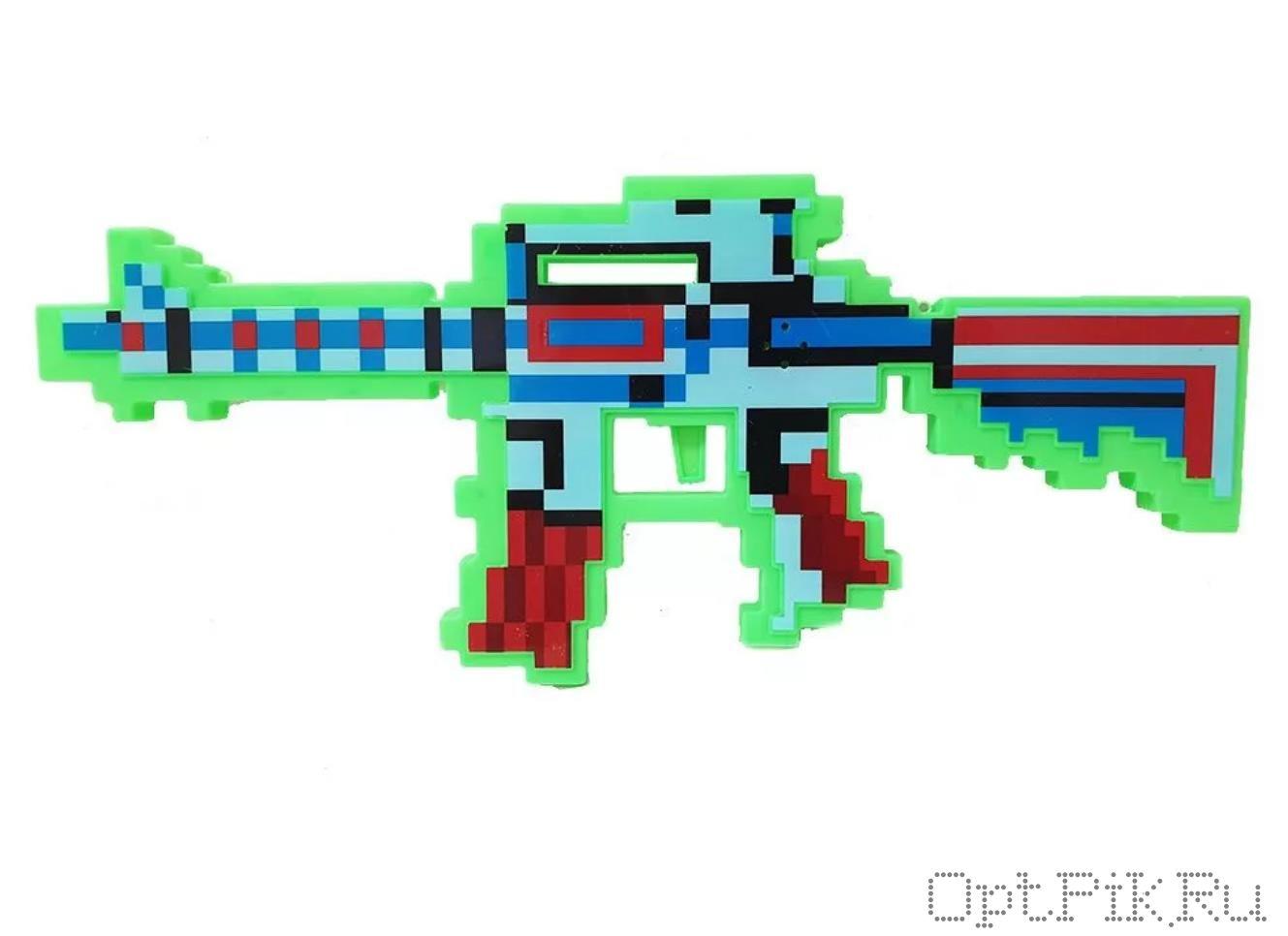 Автомат Майнкрафт Minecraft светящийся и музыкальный