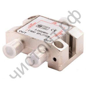 Краб ТВ 1*2  1 кат.Splitter на 2 ТВ (5-2500MHz) OT-AVS01