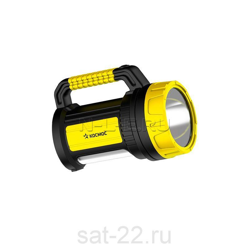 Фонарь Космос светодиодный аккум. 5W LED, бок.пан