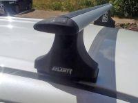 Багажник на крышу Mitsubishi Outlander 2003-06 (со штатными местами), Атлант, крыловидные аэродуги