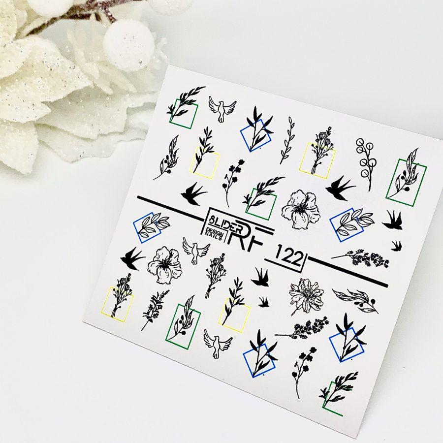 Слайдер дизайн SLIDER RF design nails (74мм х 71мм) -122- СЛАЙДЕР РФ