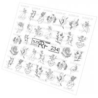 Слайдер дизайн SLIDER RF design nails (74мм х 71мм) -234- СЛАЙДЕР РФ