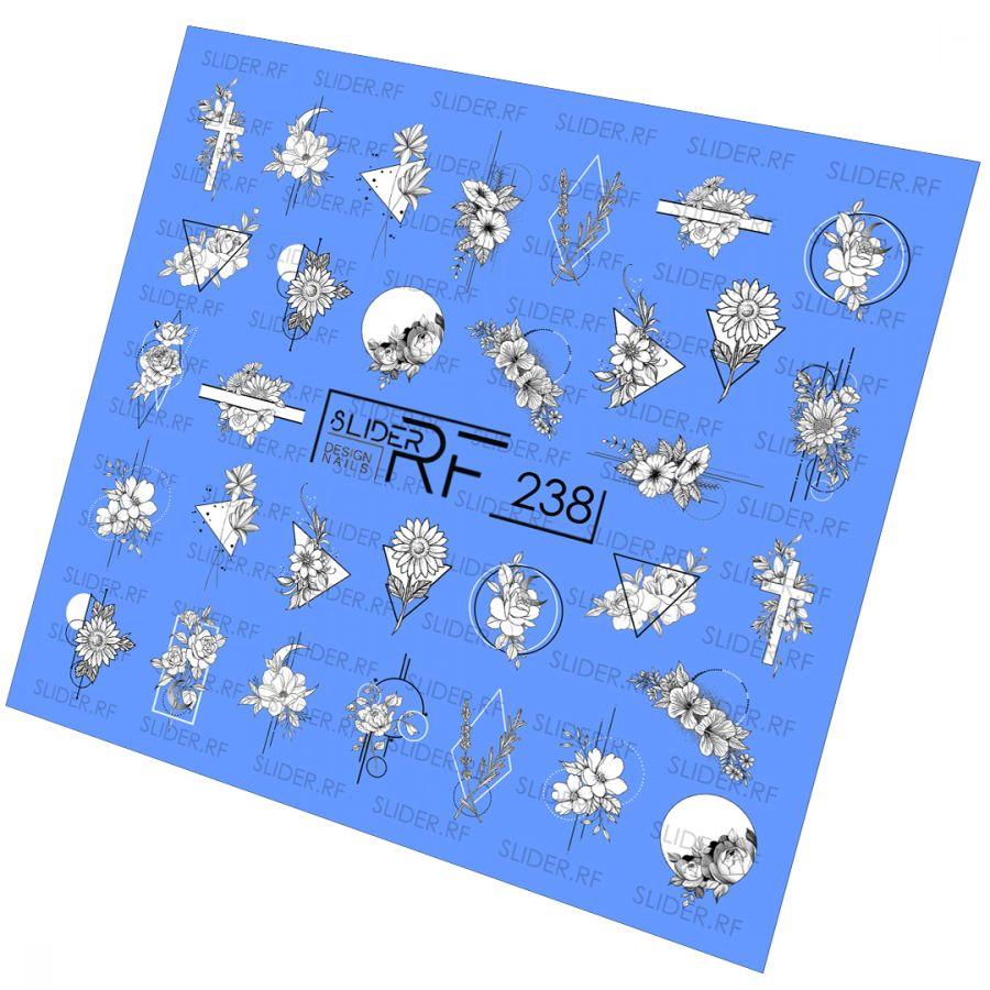 Слайдер дизайн SLIDER RF design nails (74мм х 71мм) -238- СЛАЙДЕР РФ