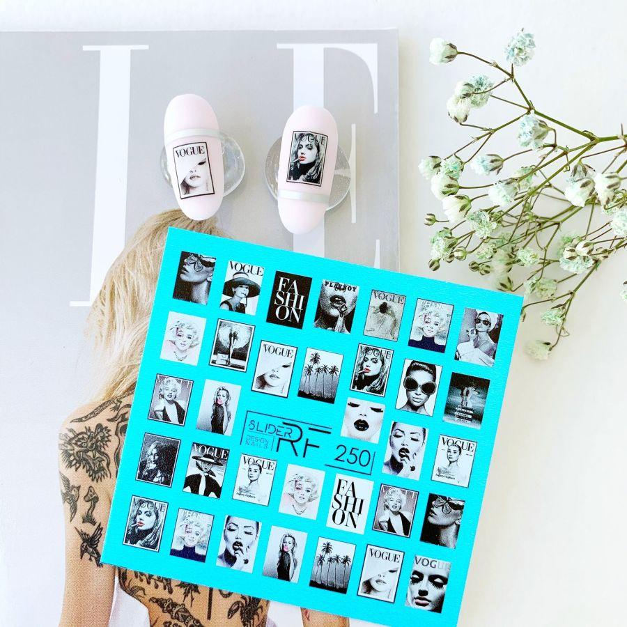 Слайдер дизайн SLIDER RF design nails (74мм х 71мм) -250- СЛАЙДЕР РФ